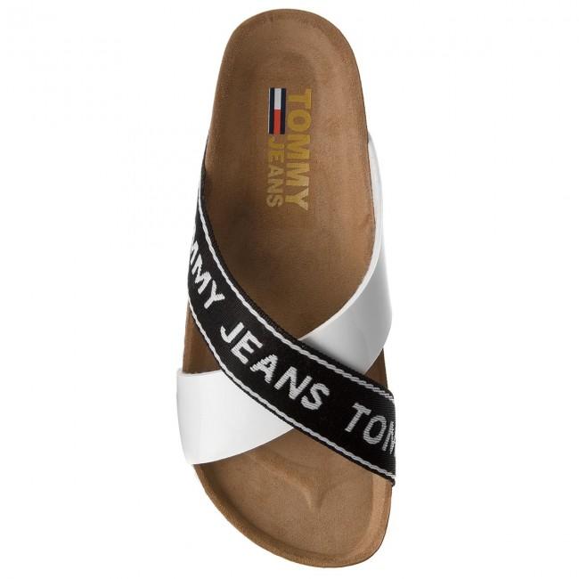 Tommy Jeans Nero Ciabatte Bianco