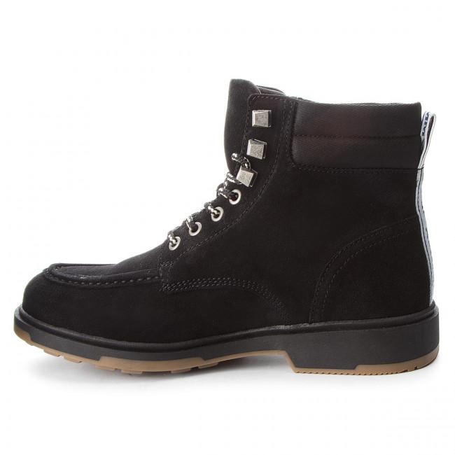 Uomo Stivali E Altri Tommy Jeans - Casual Outdoor Lace Em0em00171 Black 990