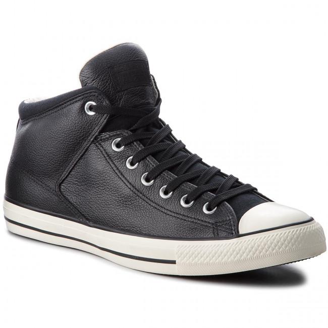 Uomo Scarpe Basse Da Ginnastica Converse - Ctas High Street Hi 157472c Black black egret