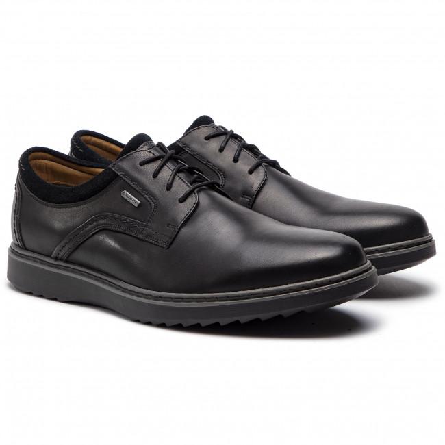 Uomo Scarpe Basse Eleganti Clarks - Un Geo Lacegtx Gore-tex 261369397 Black Leather
