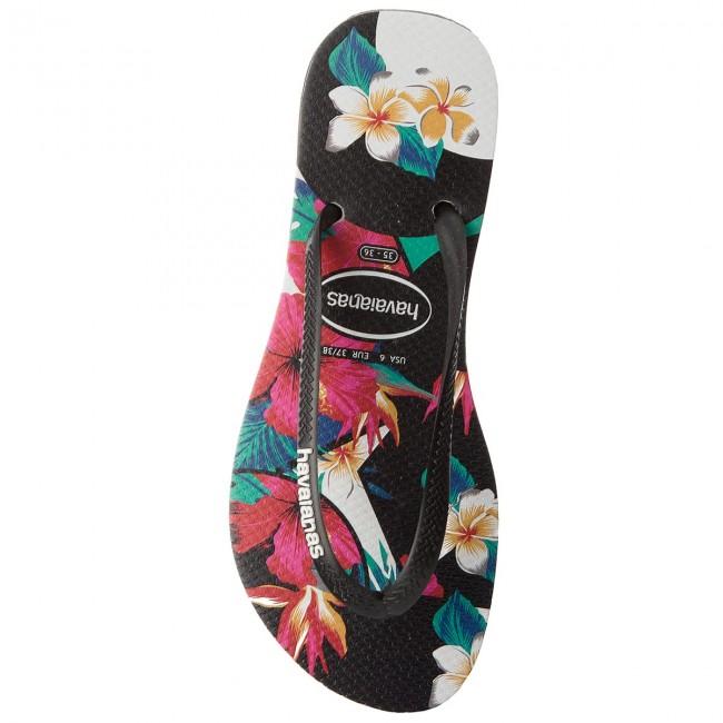 Donna Ciabatte E Sandali Infradito Havaianas Slim Tro Flo Cf 41394060090 Black