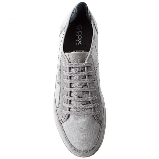 Uomo Scarpe Basse Sneakers Geox U Walee A U722ca 0nb22 C1010 Lt Grey