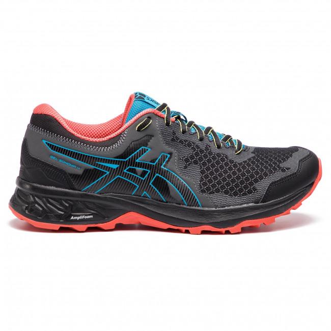 Uomo Scarpe Sportive Running Trail Asics - Gel-sonoma 4 1011a177 Black island Blue 001