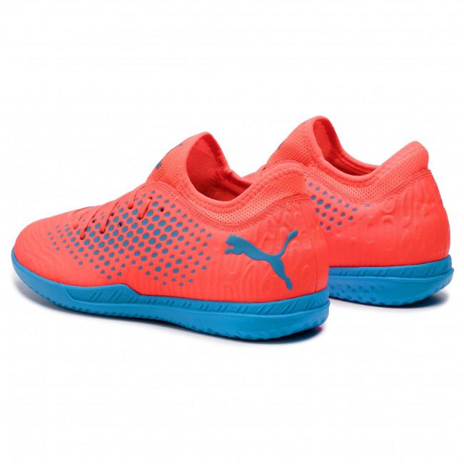 Uomo Scarpe Sportive Calcio Puma - Future 19 4 It 105549 01 Red Blas bleu Azur