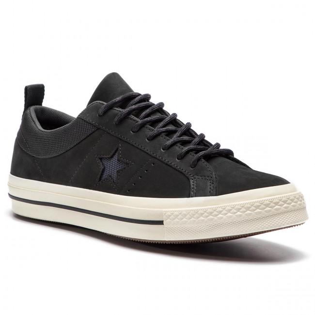 Uomo Scarpe Basse Sneakers Converse - One Star Ox 162545c Black almost Black black