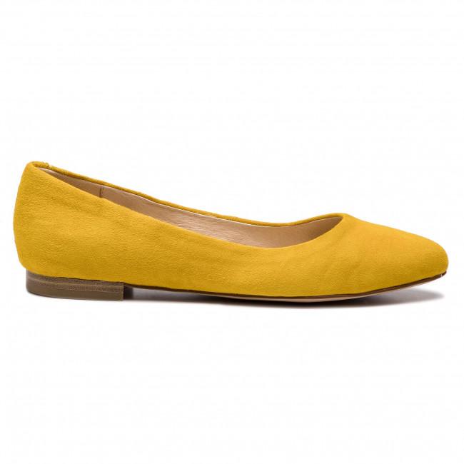 Donna Scarpe Basse Ballerine Caprice - 9-22104-22 Yellow Suede 641