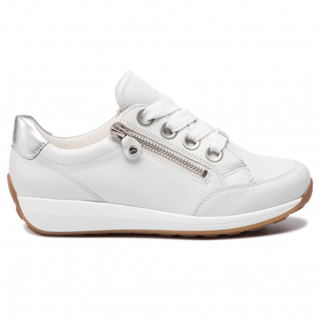 Donna Scarpe Basse Sneakers Ara - 12-34587-07 Weiss silber