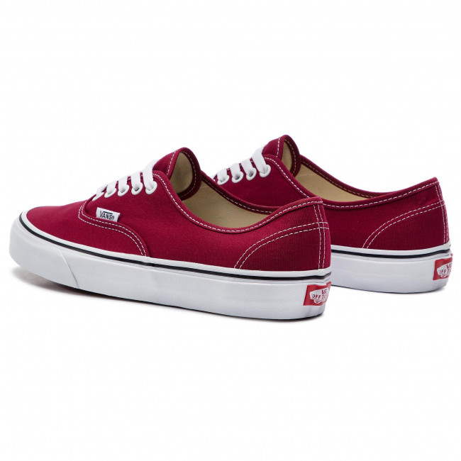 Uomo Scarpe Basse Da Ginnastica Sportive Vans - Authentic Vn0a38emvg41 Rumba Red true White