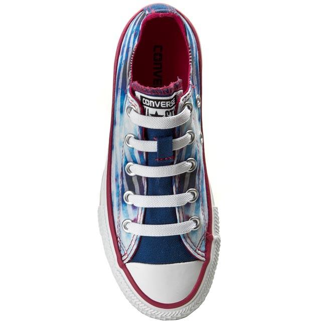 Bambino Bambina Scarpe Basse Slip-on Da Ginnastica Converse - Ct Strch Lce Sl 647727c Midnight Hou