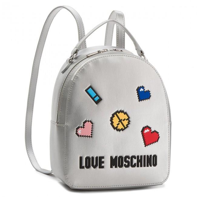 MOSCHINO LOVE Zaino Zaino Argento Zaino MOSCHINO LOVE LOVE Argento MOSCHINO Argento H4PxO