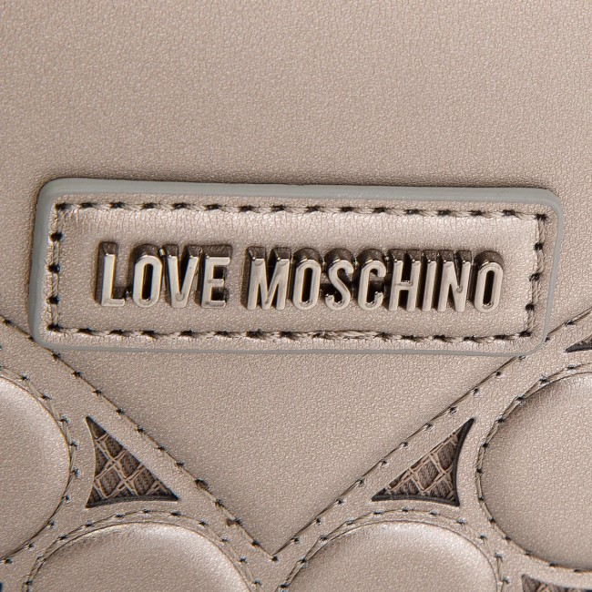 Marrone Borsa Oro Marrone MOSCHINO MOSCHINO Oro LOVE LOVE Borsa Borsa qwTtBR