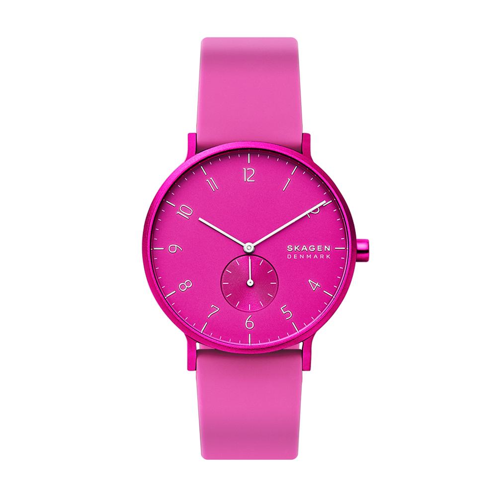 Image of Orologio SKAGEN - Aaren Kulor SKW6543 Pink Silicone/Pink